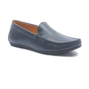 Men's Textured Loafers for Casual Wear - Navy - Moccasins - Pavers England