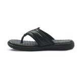 Men's Toe Post Slippers - Black - Open Toe - Pavers England