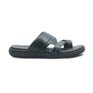 Men's Slippers - Black - Open Toe - Pavers England