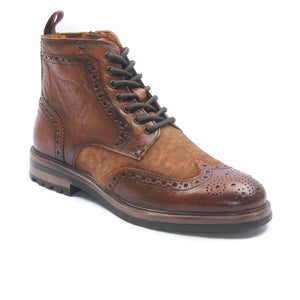 Men's Leather Ankle Boots - Tan - Boots - Pavers England