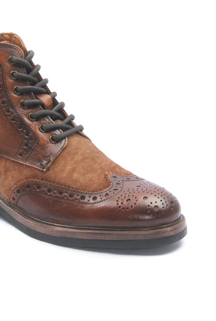 Men's Leather Ankle Boots-Tan - Ankleboots - Pavers England