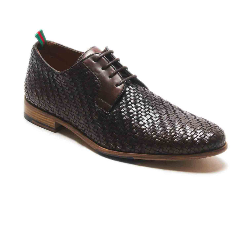 Logan Men's Basket Weaved Derby Shoes - Wedding & Occasion - Pavers England