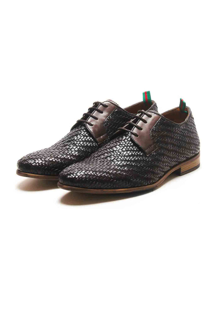 Ryan Men's Leather Brogue Shoes - Brown - Laced Shoes - Pavers England