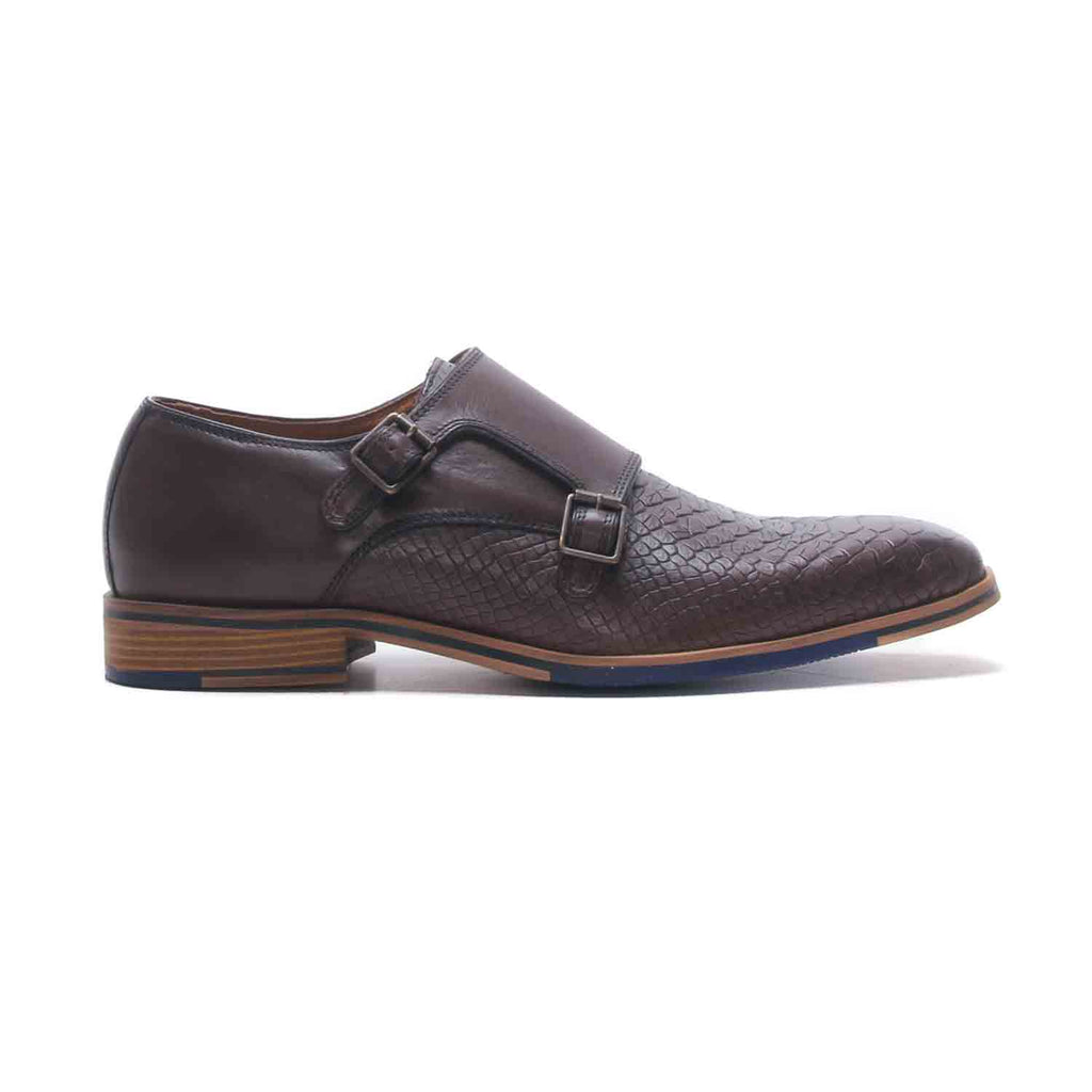 Alexander Men's Monk Shoes - Brown - Lace ups - Pavers England
