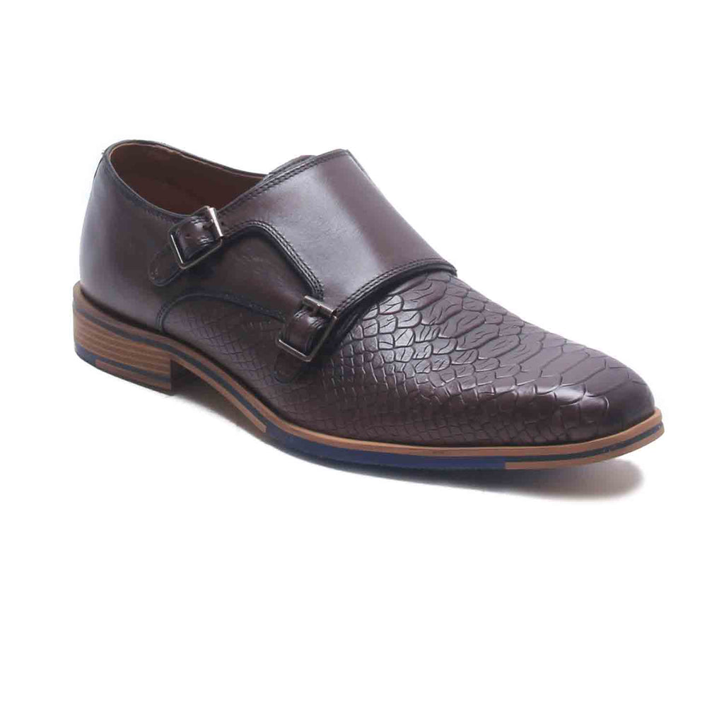 Alexander Men's Monk Shoes - Brown - Formal Loafers - Pavers England