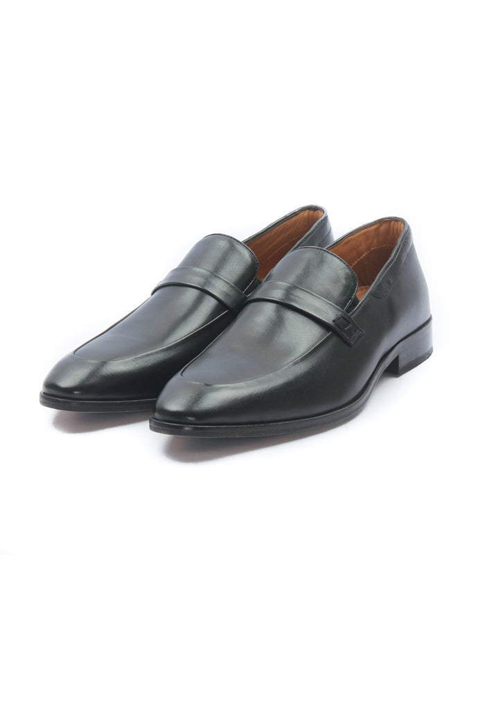 Men's Leather Mocassins - Black - Formal Loafers - Pavers England