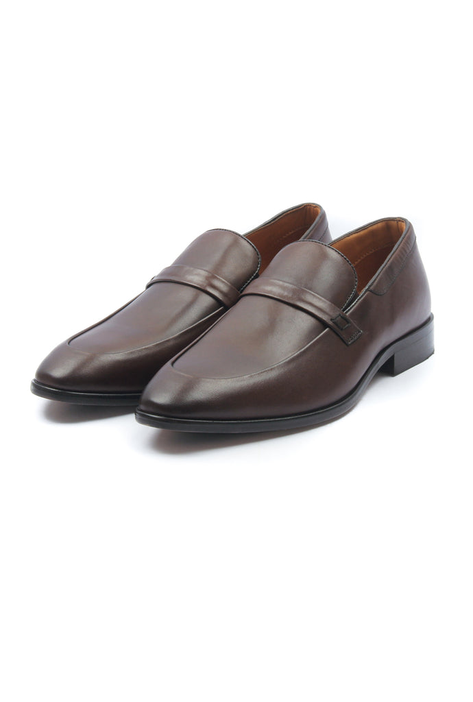 Men's Leather Mocassins - Brown - Formal Loafers - Pavers England