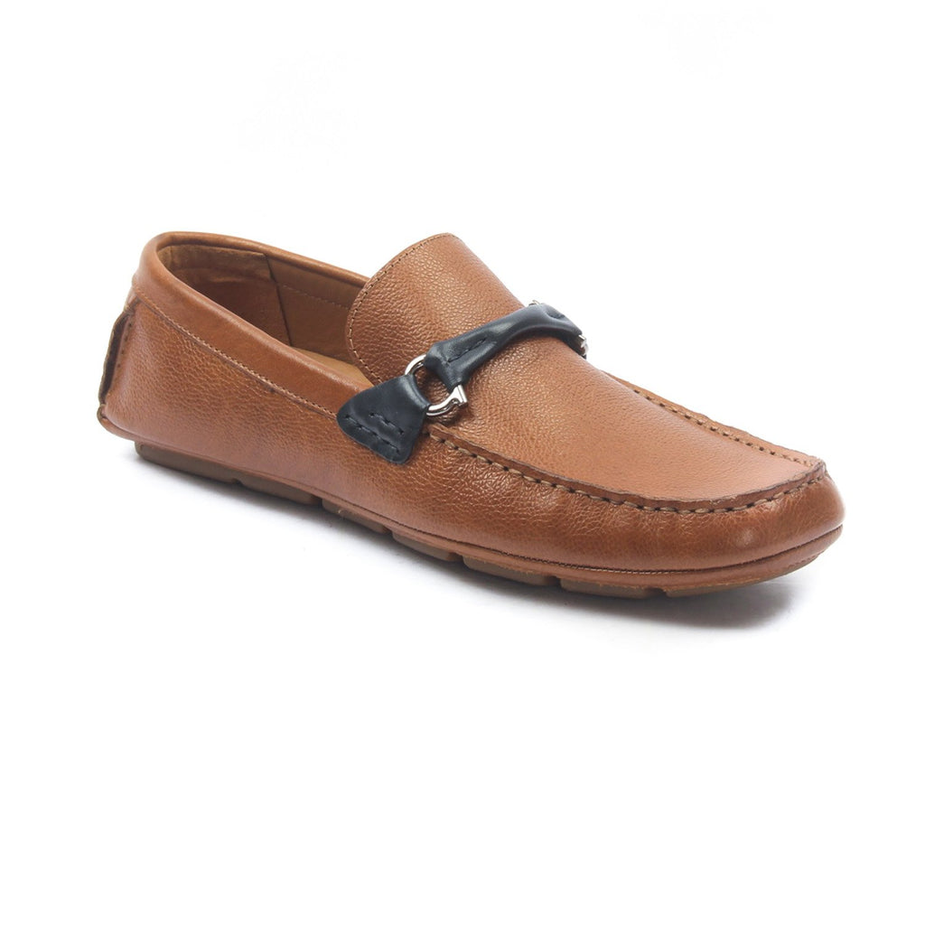 Leather slipon's for Men - Navy - Moccasins - Pavers England