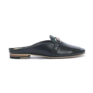 Half shoe mules for Women - Black - Closed Mules - Pavers England
