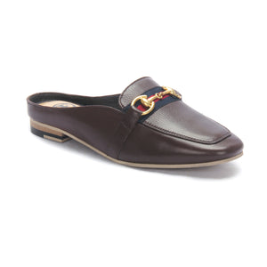 Half shoe mules for Women-Brown - Mules - Pavers England