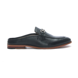Apron toe Leather slipon's - Black - Smart Casuals - Pavers England