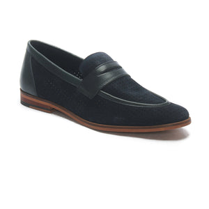 Apron toe Leather slipon's - Navy - Wedding & Occasion - Pavers England