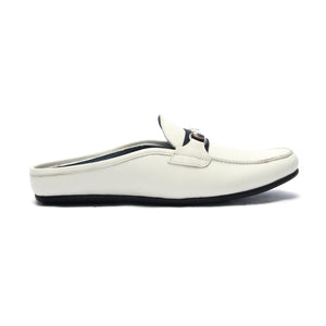 Slip-on Shoes for Men-White - Mules - Pavers England