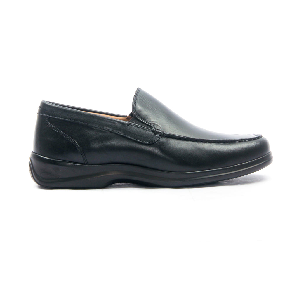 Men's Leather Formal Shoes - Black - Smart Casuals - Pavers England