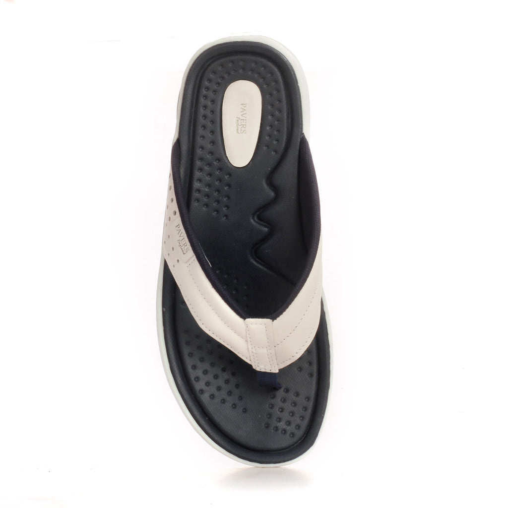 Leather Toe Post Sandals For Men