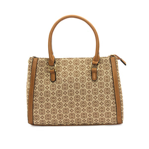 Women's Geometric Print Tote Bag - Bags & Accessories - Pavers England