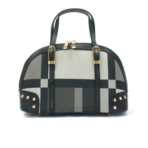 Women's Patterned Bowling Bag-Black Multi - Bags & Accessories - Pavers England