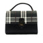 Smart and classy two toned casual handbag for women-Black Multi