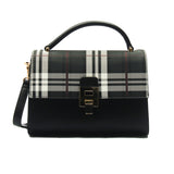 Smart and classy two toned casual handbag for women-Black Multi - Bags & Accessories - Pavers England