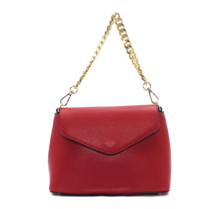 Smart solid coloured handbag for women-Red - Sling Bags - Pavers England