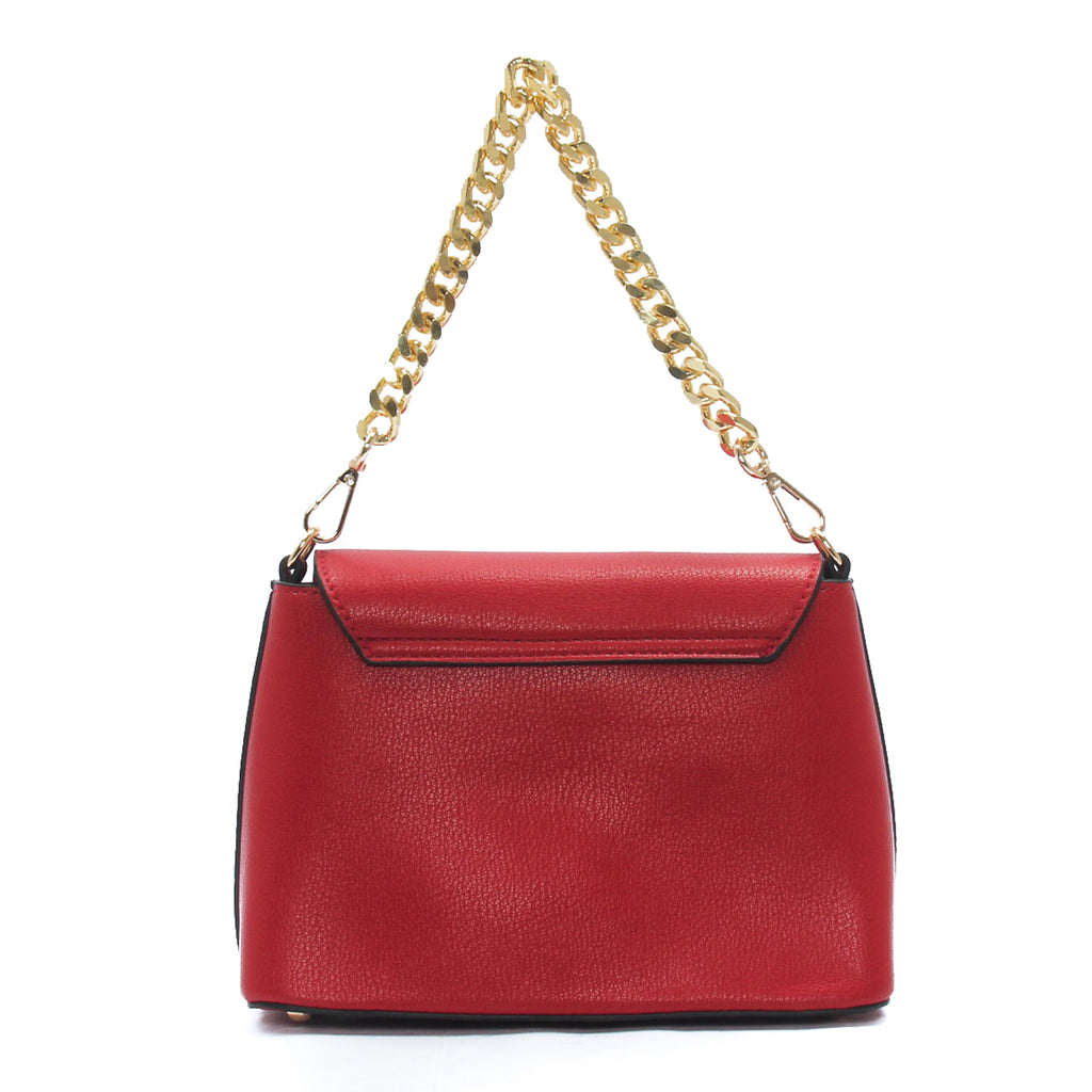 Smart solid coloured handbag for women-Red - Bags & Accessories - Pavers England
