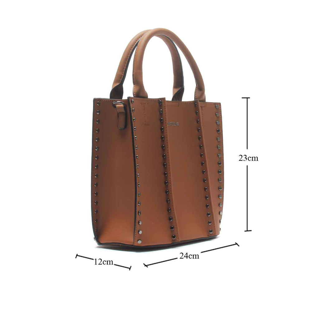 Women's Bucket Sling Bag-Tan - Bags & Accessories - Pavers England