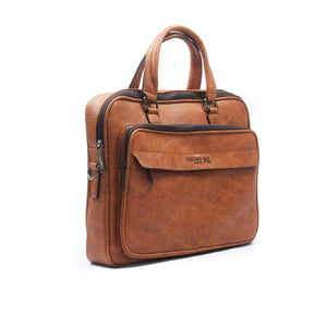 Smart brown briefcase bag for men - Laptop Bags - Pavers England