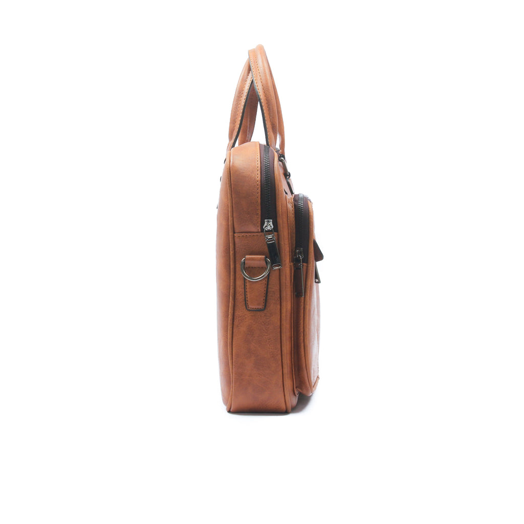 Smart briefcase bag for men-Brown - Laptop Bags - Pavers England