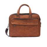 Smart brown briefcase bag for men