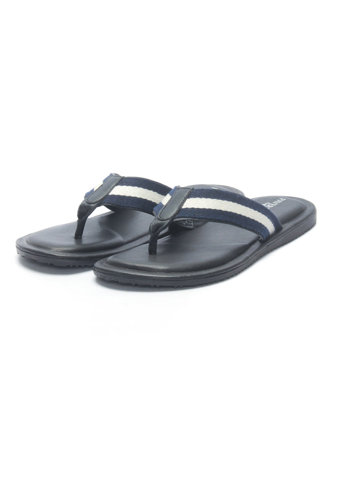 Toe Post for Men - Navy Multi - Open Toe - Pavers England
