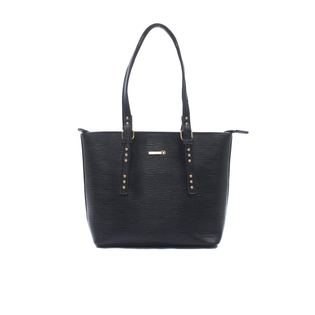 Stylish and smart black tote bag for women - Bags & Accessories - Pavers England