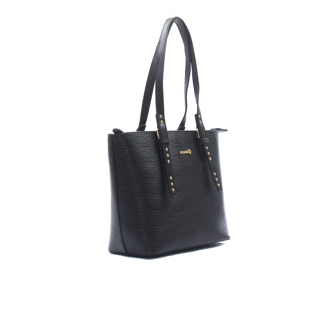 Stylish and smart black tote bag for women