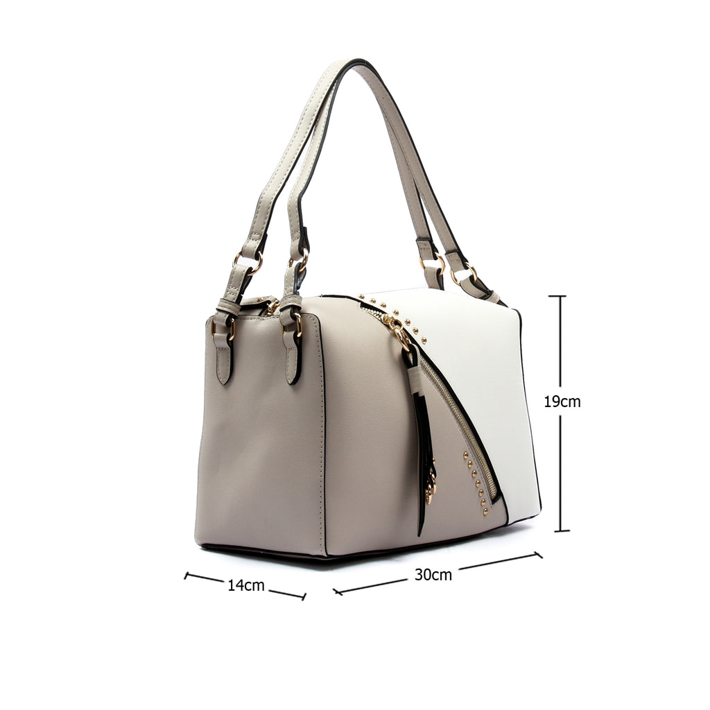 Two toned casual sling bag for women-Beige Multi - Bags & Accessories - Pavers England