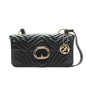 Women's Patent Finish Sling Bag-Black - Sling Bags - Pavers England
