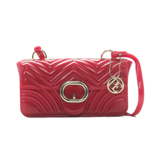 Women's Patent Finish Sling Bag-Red - Sling Bags - Pavers England