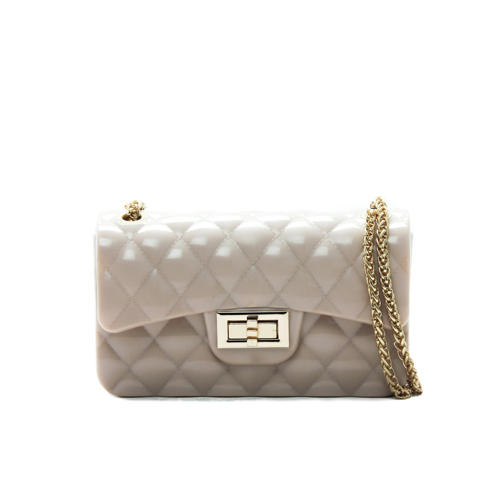 Women's Patent Sling Bag-Beige - Sling Bags - Pavers England