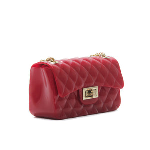 Women's Patent Sling Bag-Red - Sling Bags - Pavers England