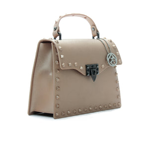 Women's Matte Finish Satchel Bag-Beige - Sling Bags - Pavers England