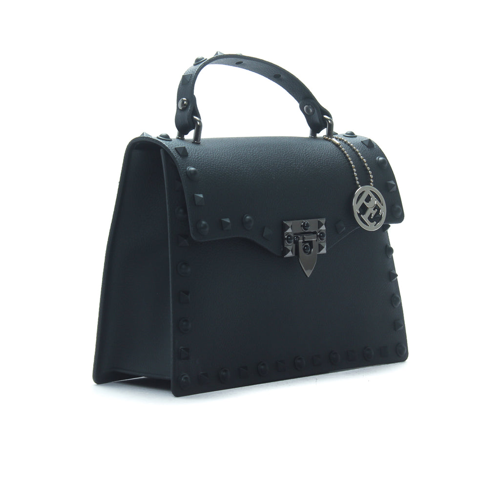 Women's Matte Finish Satchel Bag-Black - Sling Bags - Pavers England