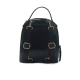 Women's Patent Finish Backpack-Black - Women's Backpacks - Pavers England