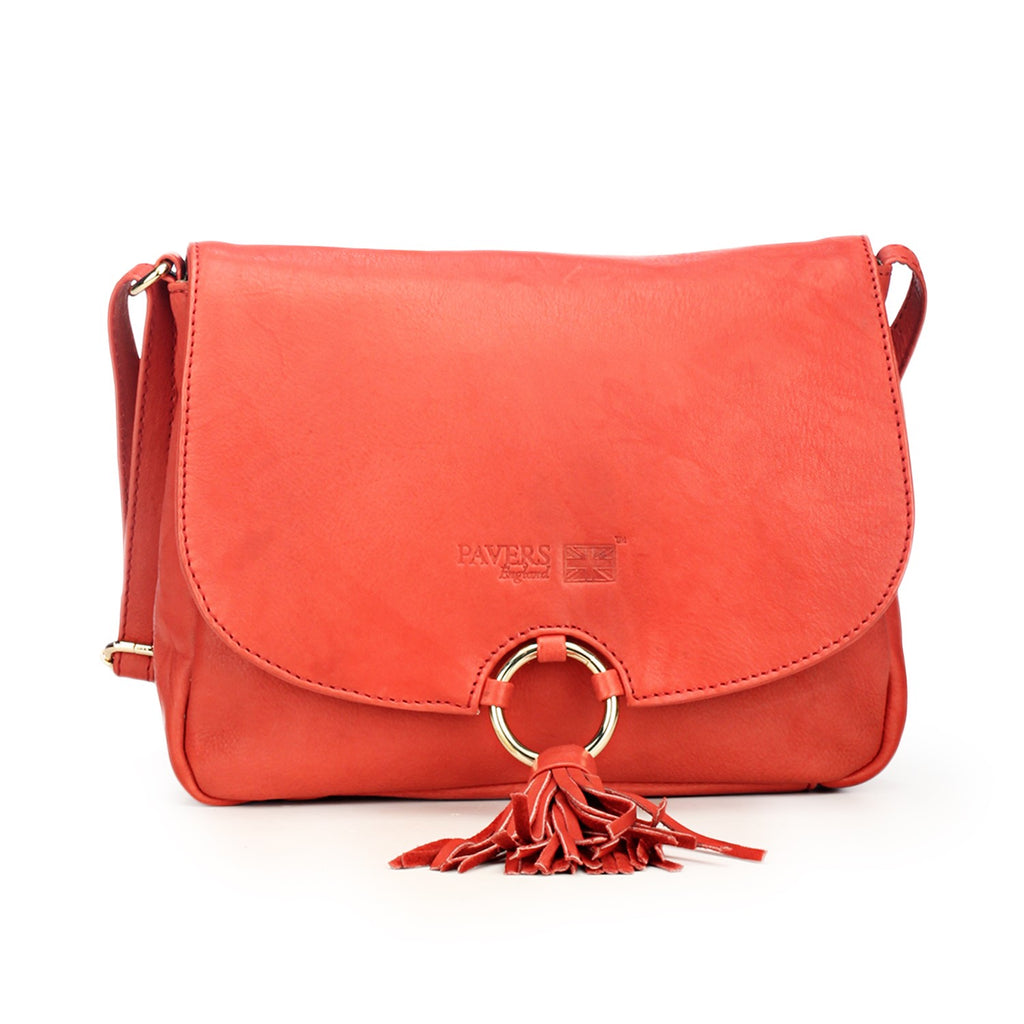 Stylish & Elegant Red Sling Bag with Tassels for Women - Sling Bags - Pavers England