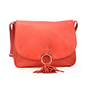 Stylish & Elegant Red Sling Bag with Tassels for Women - Bags & Accessories - Pavers England