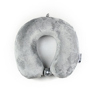 Memory Foam Travel Pillow-Grey - Neck Pillow - Pavers England
