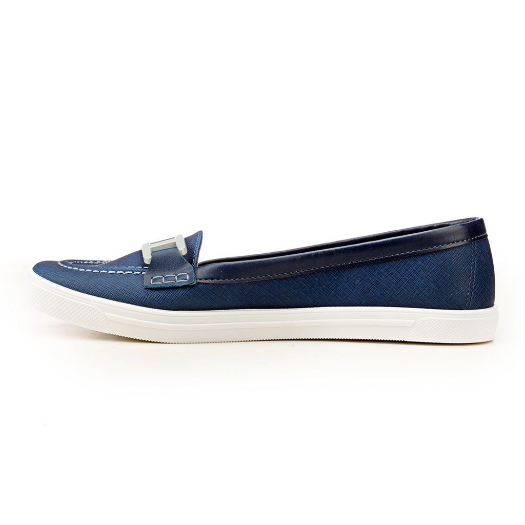 Loafers with Buckle Top - Navy - Full Shoes - Pavers England