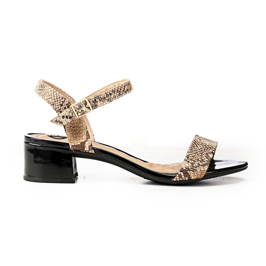 Graphic Print Heel Sandals for Women - Sandals - Pavers England