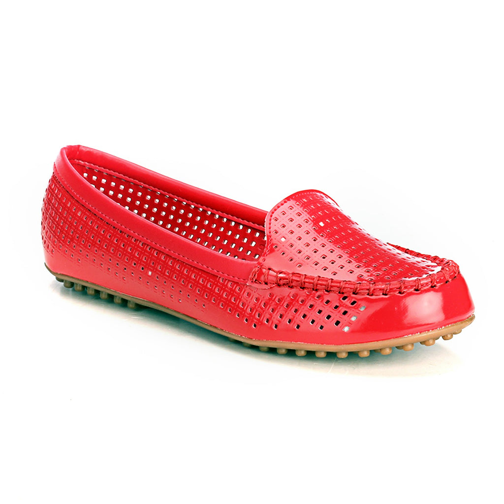 Classy Casual Loafers - Red - Full Shoes - Pavers England