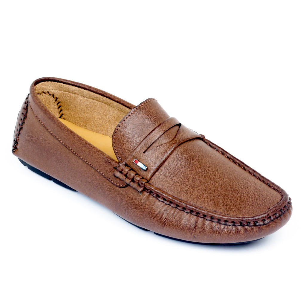 Mens Penny Loafers for Work & Party - Brown - Moccasins - Pavers England