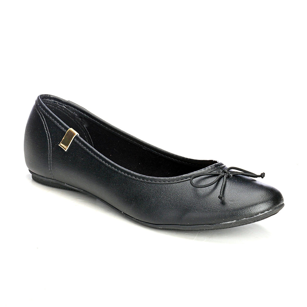 Black Formal Ballerinas - Formal shoe - Pavers England