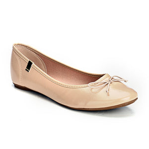 Cute Ballerinas With a Bow-Beige - Full Shoes - Pavers England