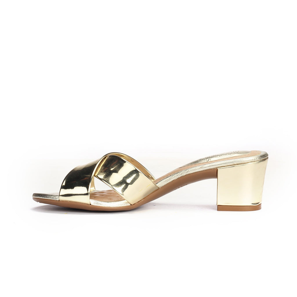 Women's Sandals - Gold - Mules - Pavers England